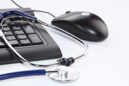 computer mouse keyboard stethoscope